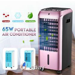 4 Ice Crystal Box Mini Air Conditioning Unit Fan 3 Speeds Cooler Silent