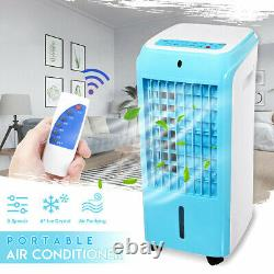 4 Ice Crystal Box Mini Air Conditioning Unit Fan 3 Speeds Cooler Silent Home