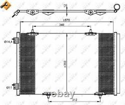 A/c Air Condenser Radiator New Oe Replacement For Citroen Peugeot C Elysee Hmy