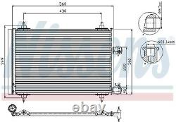 A/c Air Condenser Radiator New Oe Replacement For Citroen Peugeot C5 III Rd 5fs