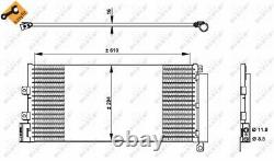A/c Air Condenser Radiator New Oe Replacement For Fiat Linea 323 199 A3 000 198