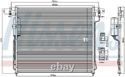 A/c Air Condenser Radiator New Oe Replacement For Nissan Np300 Navara D40