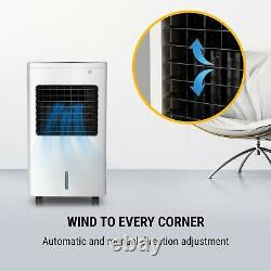 Air Cooler Fan Portable 65W Timer 400m³ / h Touch Room Home Remote Control White