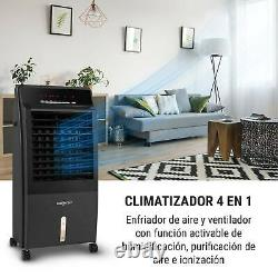 Air Cooler Fan Portable Conditioning Humidifier Purifier Home 2000W 65W Black