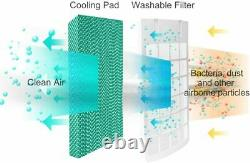 COSTWAY 5 in 1 Compact Air Cooler Heater Humidifier Fan Purifier, with F