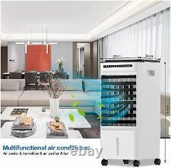 Evaporative Air Cooler 5L, 4 in 1 Large Mobile Portable Air Conditioner Unit FAN