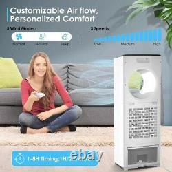 Evaporative Coolers for Home, 110W Air Cooler 4 IN 1 Tower Fan/Cooling/Humidifie
