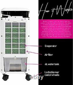 MYLEK Portable Air Cooler Fan for Home with Remote Control & LCD Display Timer