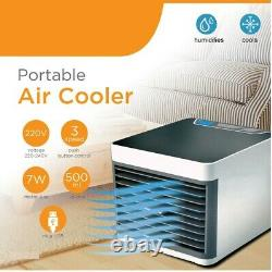 Mini Air Conditioning Unit Cooling Fan Low Noise Cold Water Home Cooler Uk Stock