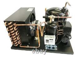 New! Outdoor Condensing Unit, 3/4 HP, High Temp, R134a, 220V (Embraco NJ6220Z2)