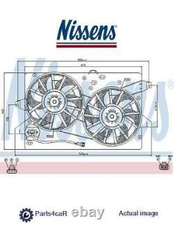 New Radiator Cooling Fan Module Unit For Ford Mondeo III B5y Fmba N7ba Qjbc Qjbd