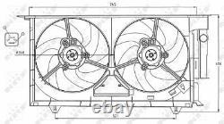 New Radiator Cooling Fan Module Unit For Peugeot Citroen 306 Hatchback 7a 7c N3