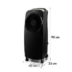 Portable Air Cooler Fan humidifier Ioniser Room refresher110W Timer Remote Black