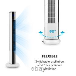 Portable air cooler fan tower Oscillation Remote cooling room 50W Home Office